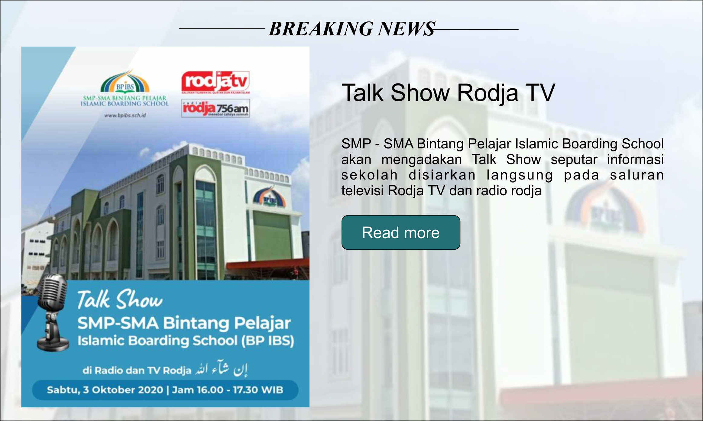 Talk Show Rodja TV dan Radio Rodja